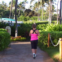 Cindy running in Hawaii