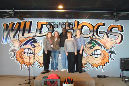 Thank you to Wild Hogs Saloon & Eatery, which raised nearly $350 for EFY from a Bras for a Cause event.
