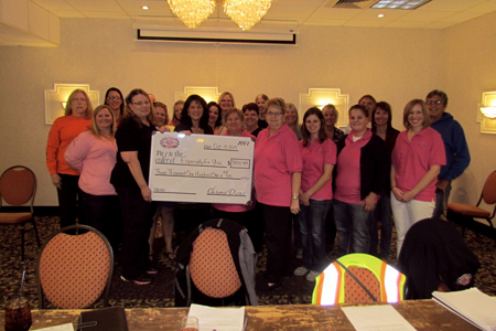In October 2015, the Chrome Divas presented a check for $3,101.43 to EFY. Thank you for your support of breast-care services!