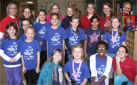 Girls on the Run at Hiawatha Elementary School chose EFY for a community service project and raised $217.72 for the EFY Fund in December 2014. Thank you and great job!