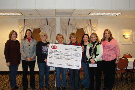 In December 2014, the Chrome Divas of Cedar Rapids donated $8,398.95 to EFY from their annual Breast & Ovarian Cancer Awareness (BOCA) Ride. Thank you for your continued support!