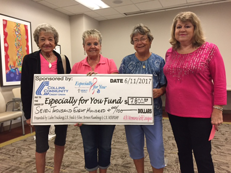 Thank you to Airport National Gold Women's league for their donation! The group hosts an annual golf tournament in support of the the EFY Fund.