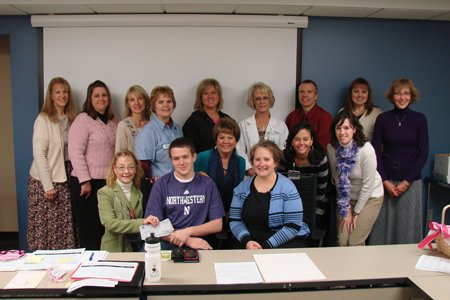 In honor of his mom, high school senior Connor Drahos sold pink Community for a Cure bracelets leading up to Prairie's Pink Out football game in October 2013. Connor raised $776 for the EFY Fund! He and his mom presented the check to the EFY Committee on Oct. 22, 2013.